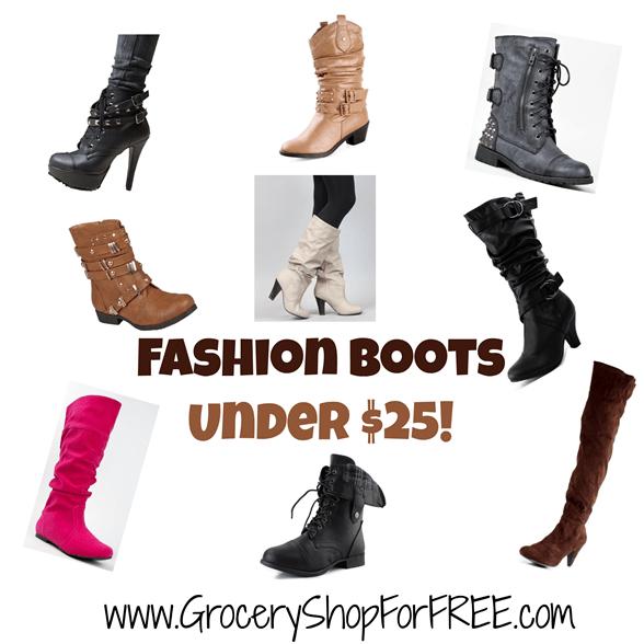 Fashion Boots Under $25