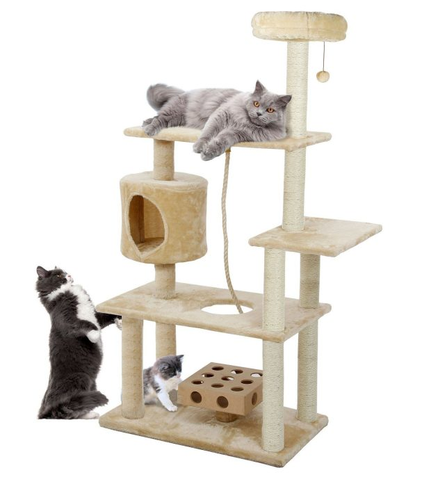 Furhaven Pet Tiger Tough Cat Tree Deluxe Playground Tower Just $57.48 Shipped! (reg. $169.99)