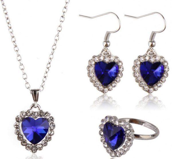 Heart of Ocean 3-Piece Jewelry Set