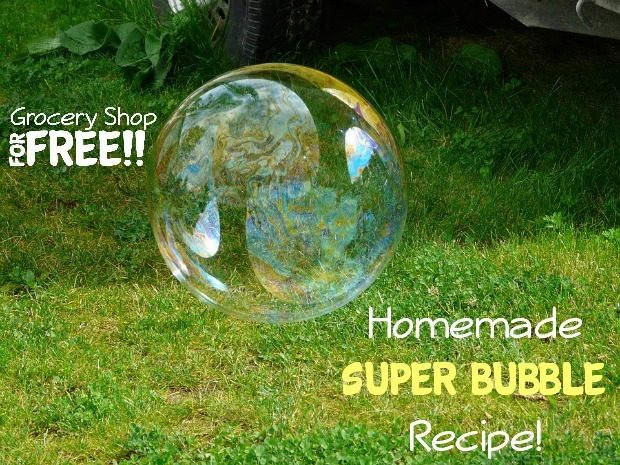 Homemade Super Bubble Recipe!