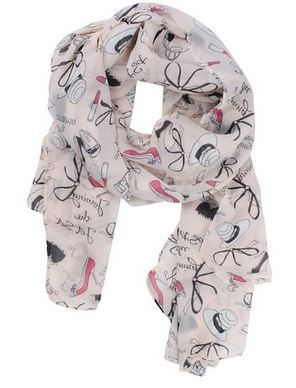 Lipstick, Bowknot and High Heel Shoe Scarf Just $3.59 plus FREE Shipping!