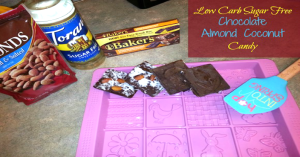 Low Carb Sugar Free Chocolate, Almond, And Coconut Candy!