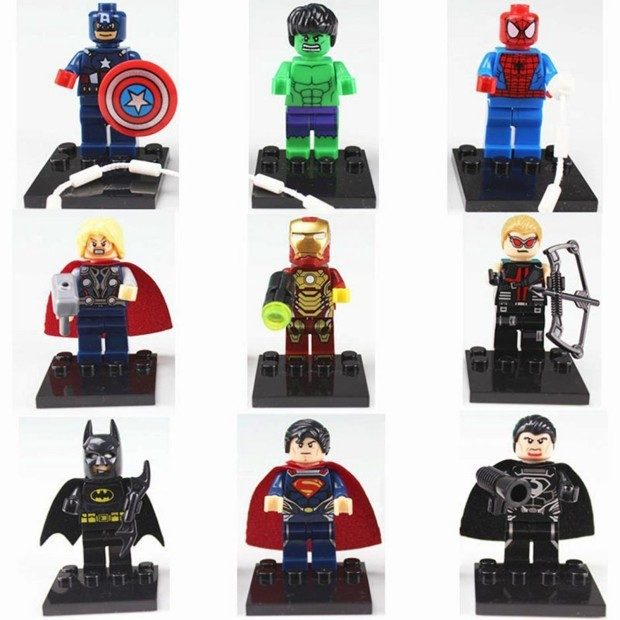 Set of 9 Marvel & DC Comics Super Heroes Minifigures Just $6.20 + FREE Shipping!