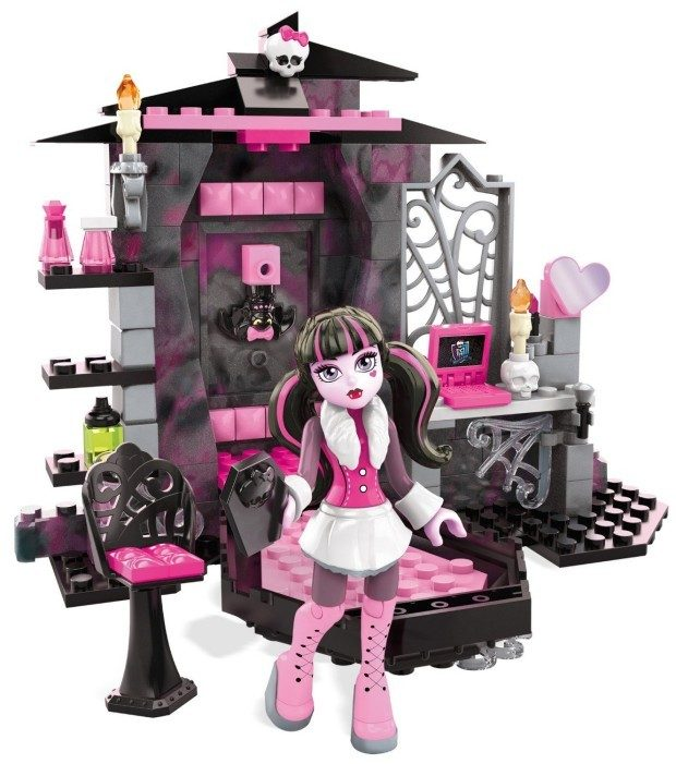 Mega Bloks Monster High Draculaura's Vamptastic Room Building Set  Just $9.59!