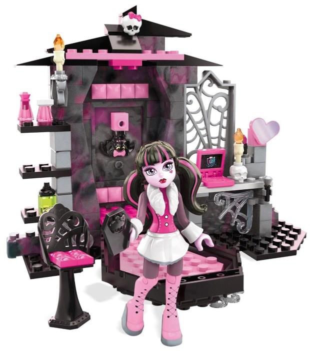 Mega Bloks Monster High Draculaura's Vamptastic Room Building Set  Just $9.59!
