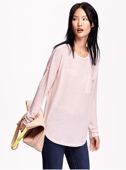 Oversized Rounded-Hem Top Was $19.94 Now Only $13.99!