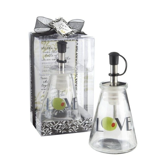 Olive You! Glass LOVE Oil Bottle Only $3.49!