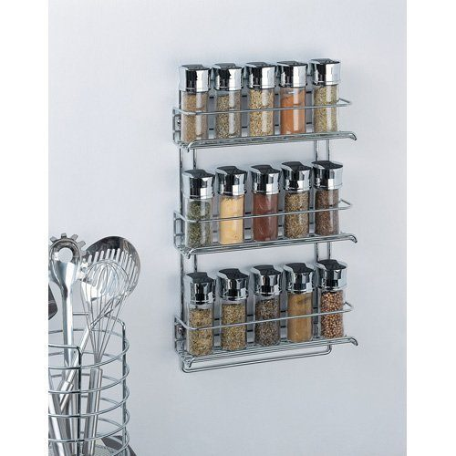 Organize It All 3-Tier Wall-Mounted Spice Rack Just $10.49!