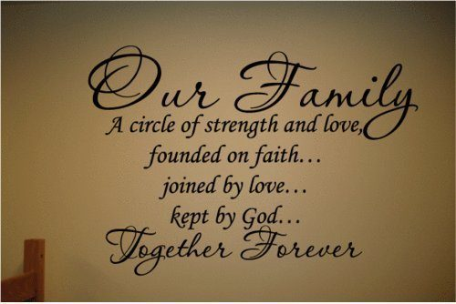 Our Family A Circle Of Strength And Love Wall Decal