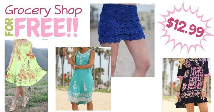 Summer Tunics, Dresses, & Shorts Just $12.99!