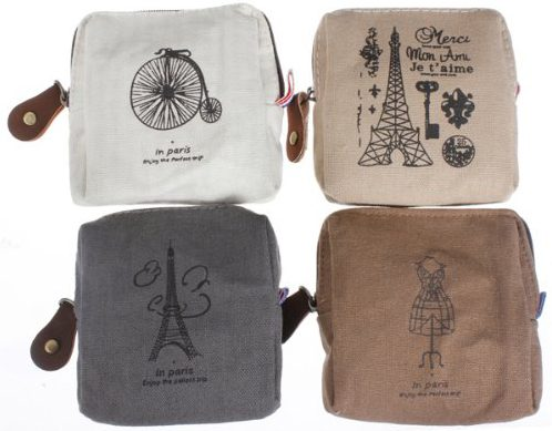 Retro Canvas Coin Purses Only $3.88 + FREE Shipping!