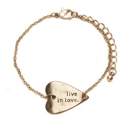Live In Love Gold Bracelet As Low As FREE (Reg. $22.95)!