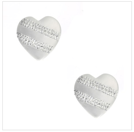 Frosted Crystal Heart Studs As Low As $2 SHIPPED (Reg. $19.95)!