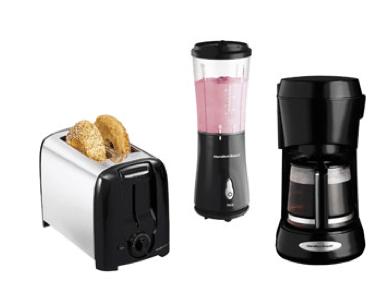 Hamilton Beach Toaster, Blender + Coffee Maker Bundle $34.88 ( = $11.63 each)!