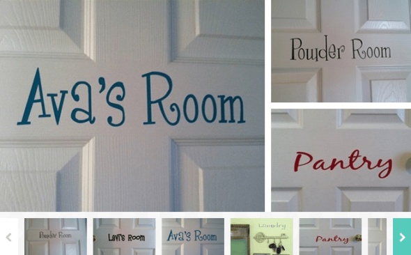 Personalized Door Vinyls Just $4.99 (Reg. $9.99)!