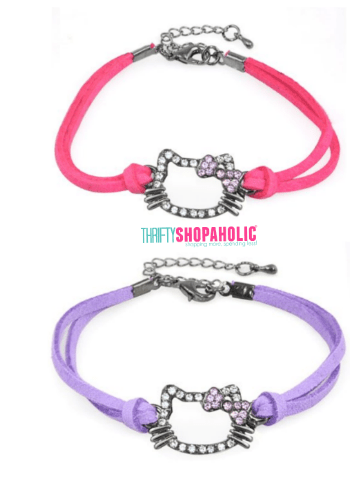 Hello Kitty Leather Rope Bracelets $3.98 + FREE Shipping!