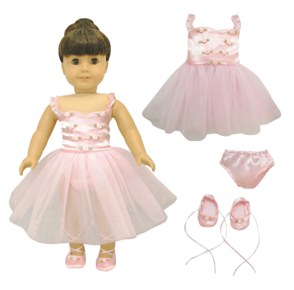 Ballerina Outfit Set for American Girl, Madame Alexander and other 18 inches Dolls Only $12.95 (Reg. $35)!