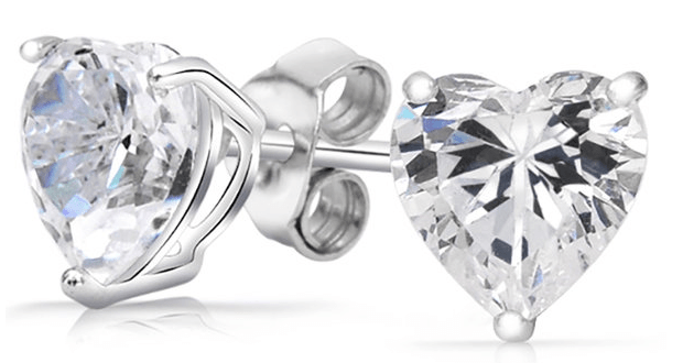 FREE Crystal Silver Heart Earrings! Down From $99.99!