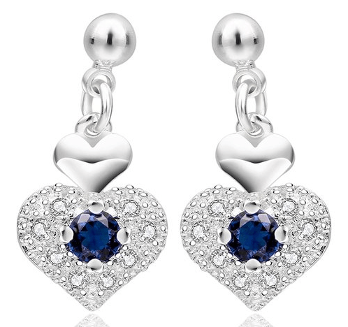 Imitation Sapphire Heart Earrings Just $6.99! Down From $99.99! Ships FREE!