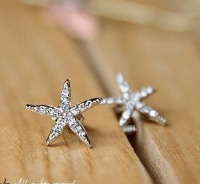 Crystal Starfish Earrings Only $2.99 + FREE Shipping!
