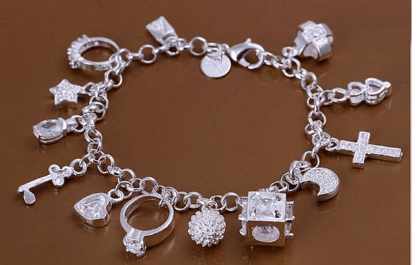 Silver Charms Bracelet Just $5.99! Down From $100! Ships FREE!
