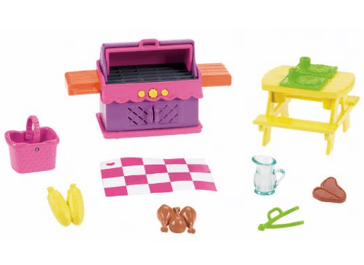 Dora the Explorer dollhouse backyard BBQ Playset