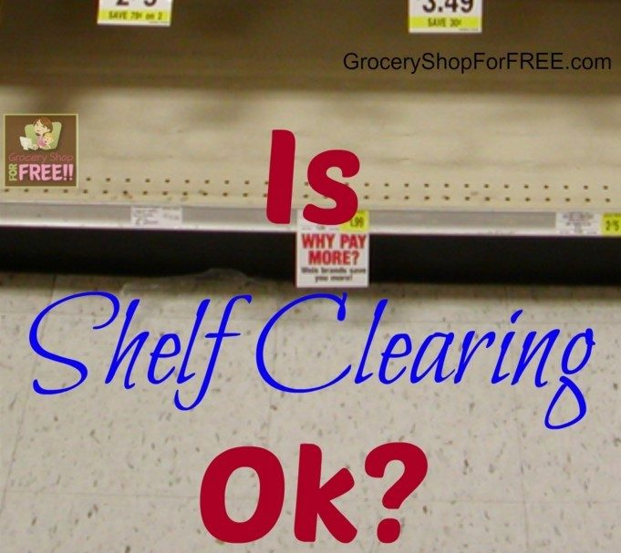 FAQ About Coupons: Is Shelf Clearing Ok?