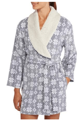 I Appel Women's Shawl Collar Sherpa Lined Stretch Fleece Robe Just $6.50 Down From $18.99 At Walmart!
