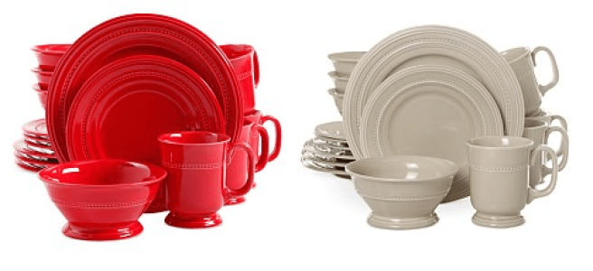 Signature Living Adele Red 16-Piece Set Only $22.49! Down From $120.00!
