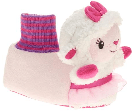 Doc McStuffins Toddler Girl's Lambie Sock-top Slipper Just $3.75! Down From $9.97!