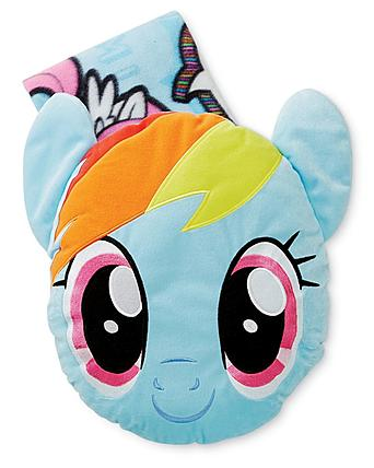 Hasbro My Little Pony Big Face Pillow with Throw Just $9.97! Down From $24.99!