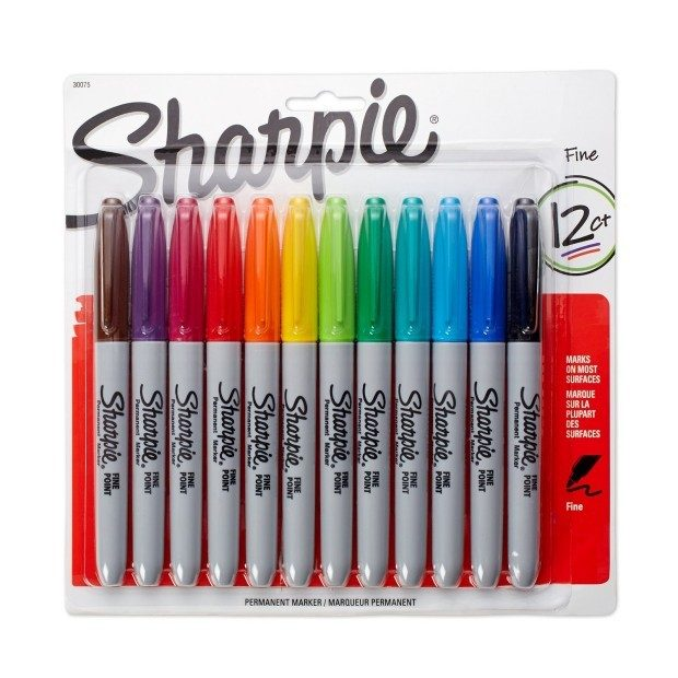 Sharpie Permanent Markers, Fine Point, 12-Pack Just $6! (reg. $16.08)