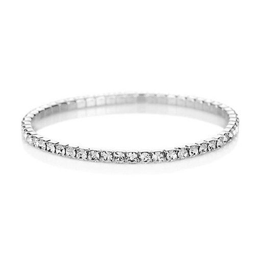 Swarovski Elements Single Tier Crystal Bracelet