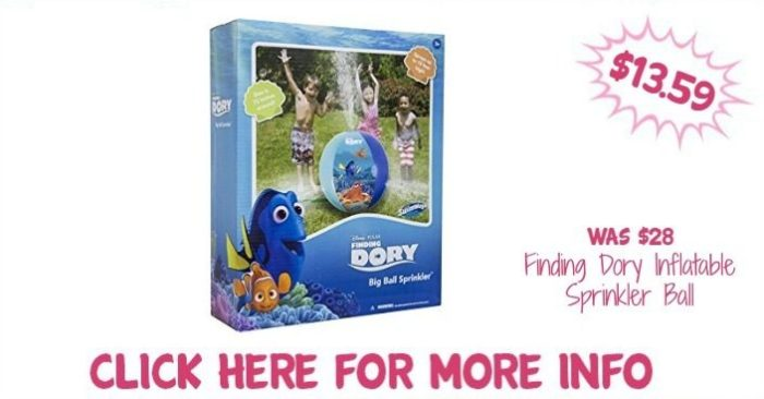Finding Dory Inflatable Sprinkler Ball Just $13.59! Down From $28!