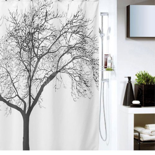 Waterproof Shower Curtain with Tree Design $7.18 + FREE Shipping with Prime!