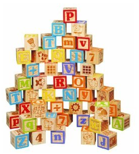 Maxim 45mm Wooden ABC Blocks, 40 Pieces Just $15.44 Down From $30!