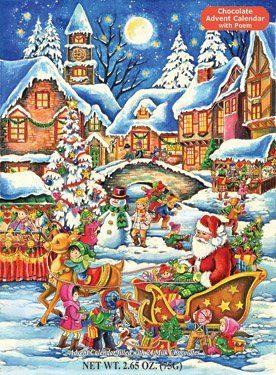 Santa's Here Chocolate Advent Calendar Only $6.59!