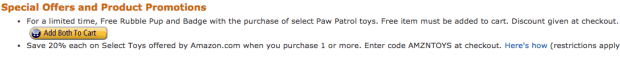 FREE Rubble Pup & Badge With The Purchase of Select Paw Patrol Toys!