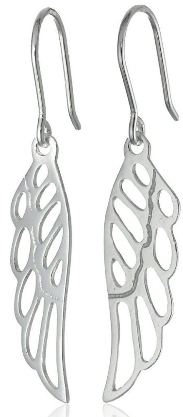 Sterling Silver Angel Wing Drop Earrings Only $9.99! (Reg. $40)