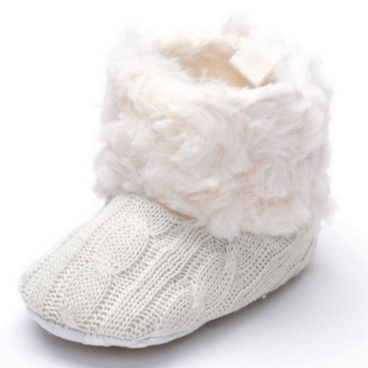 Annnowl Baby Girls Knit Soft Fur Winter Warm Snow Boots Crib Shoes Just $7 Down From $20!  FREE Shipping!