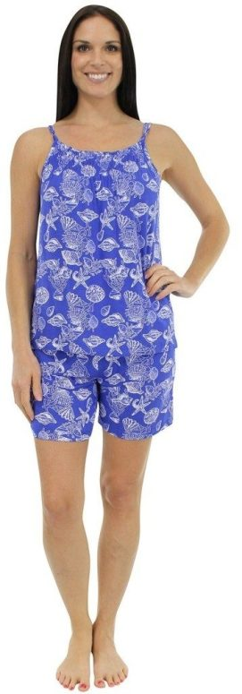 Women's Bamboo Jersey Tank and Short Pajama Set Only $17.99!