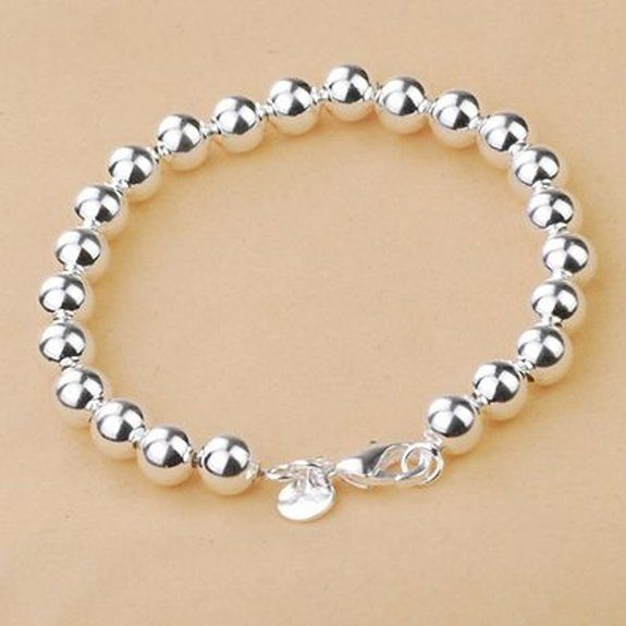 Silver Bead Bracelet Only $2.94 Ships FREE!