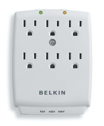 Belkin SurgeMaster 6 Outlet Wall-Mount Surge Protector Just $10.52! (Reg. $20!)