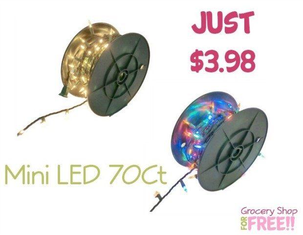 Mini LED 70Ct White Or Multi-Color Light Strand Just $3.98!