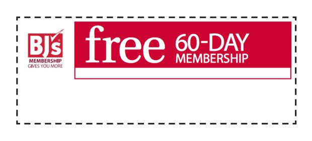 FREE 60 Day BJs Membership!