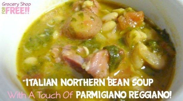 Italian Northern Bean Soup With A Touch Of Parmigiano Reggiano!