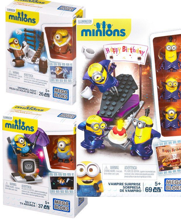 Mega Bloks Minion Sets Only $3.99!  (Reg. Up To $15!)