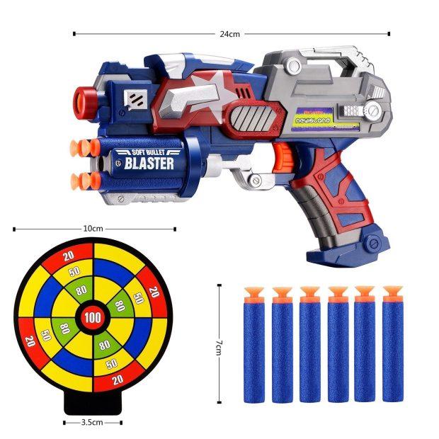 Big League Blaster Gun W/ Foam Darts & Dartboard Only $10.98! (Reg. $23)