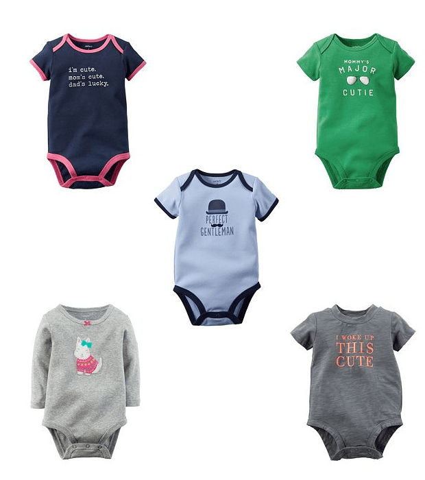 Carter's Slogan Bodysuits Just $4.25 At Kohl's!