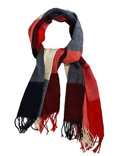 Women's Cashmere Scarf with Square Pattern Just $4.72! Ships FREE!